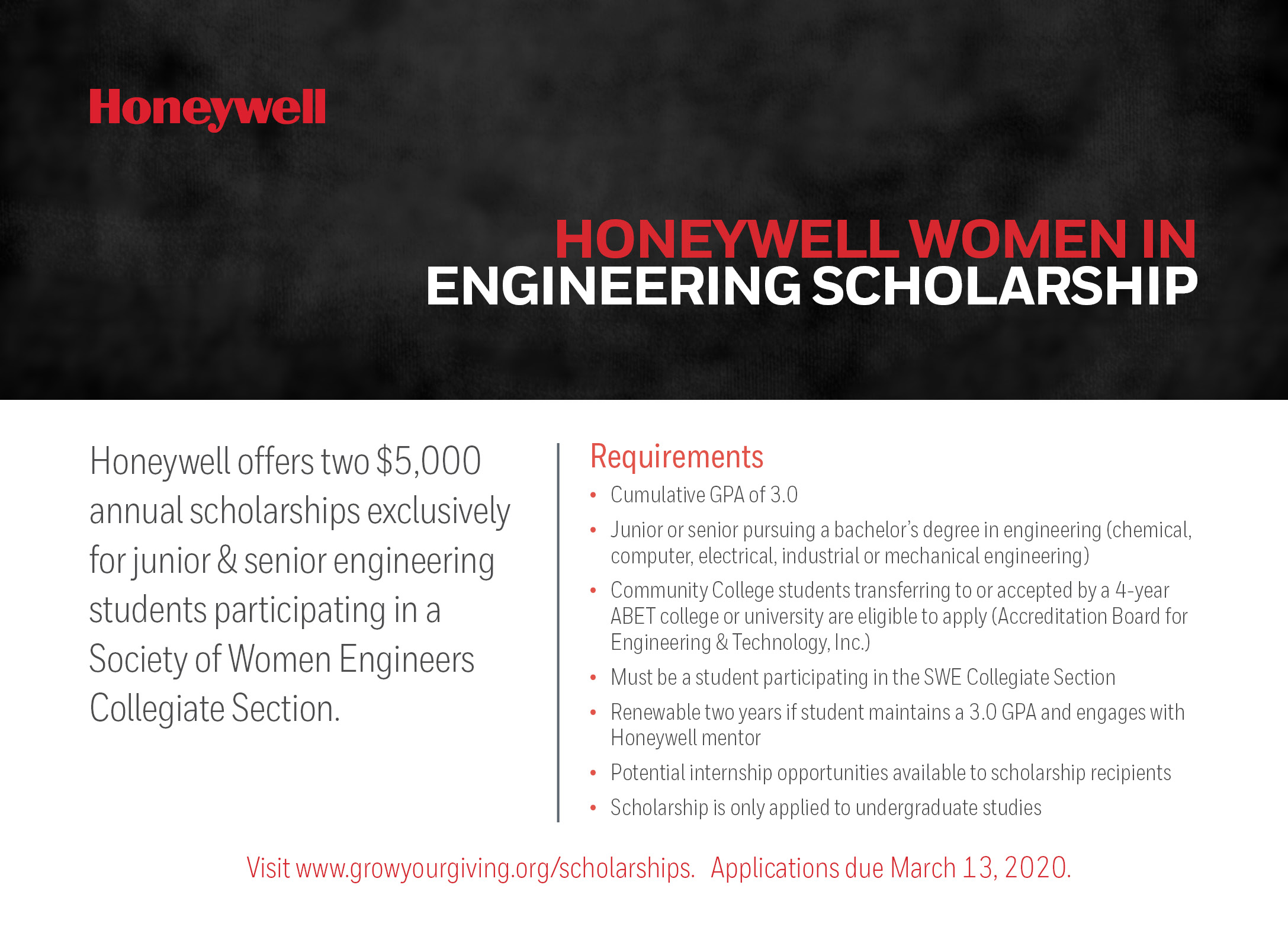 Honeywell Women in Engineering Scholarship card_vFINp
